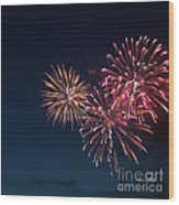 Fireworks Series Vi Wood Print by Suzanne Gaff