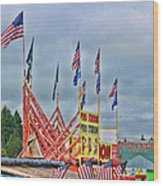 Fireworks Stand Wood Print by Cathy Anderson