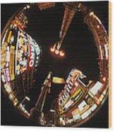 Fish Eye Photo Of Picadilly Circus Wood Print