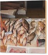 Fish Market Wood Print