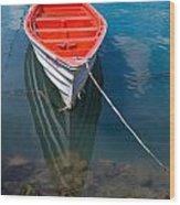 Fisherman's Boat Wood Print