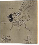 Fishing Fly Patent Wood Print