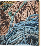 Fishing Ropes Wood Print