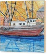 Fishing Trawler Wood Print