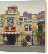 Five And Dime Disneyland Toontown Signage Wood Print