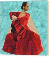 Flamenco Dancer In Spain Wood Print