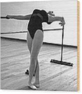 Flexibility Bw Wood Print