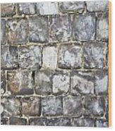 Flint Stone Wall Wood Print