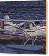 Float Plane Dock Wood Print