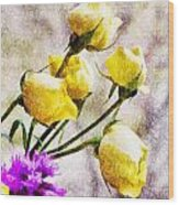 Floral Art Iv Wood Print