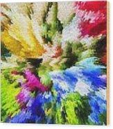 Floral Art X Wood Print
