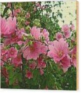 Floral Splash Wood Print