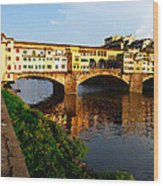 Florence Italy Ponte Vecchio Wood Print