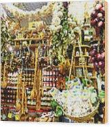 Florence Market Wood Print
