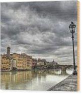 Florence Old Bridge Wood Print