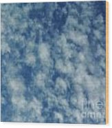 Florida Clouds Above Wood Print