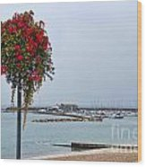 Flowers Along The Seafront Wood Print