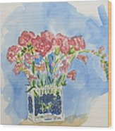 Flowers In A Vase Wood Print