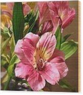 Flowers In Bloom Wood Print