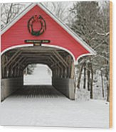 Flume Covered Bridge - White Mountains New Hampshire Usa Wood Print