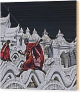 Flying Monks 2 Wood Print