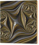 Folds Wood Print