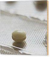 Folic Acid Pills In Blister Pack Wood Print