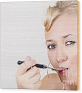 Food Connoisseur Eating Fine Dining Cuisine Wood Print