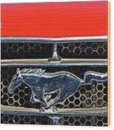Ford Mustang Badge Wood Print