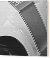 Ford Mustang Boss 302 Emblem Wood Print