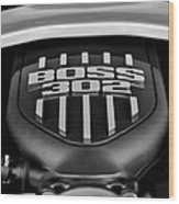 Ford Mustang Boss 302 Engine Wood Print