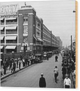 Ford Work Shift Change - Detroit 1916 Wood Print