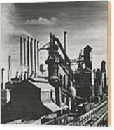 Ford's River Rouge Plant Wood Print
