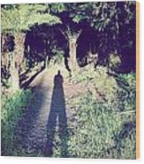 Forest Shadow Wood Print