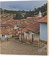 forgotten village Totora Wood Print