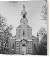 former st josephs catholic church in Forget Saskatchewan Canada Wood Print