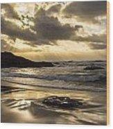 Fort Bragg Storm Wood Print