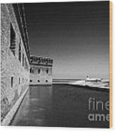 Fort Jefferson Brick Walls With Moat Dry Tortugas National Park Florida Keys Usa Wood Print