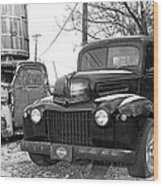 Forties Ford Pickup Wood Print