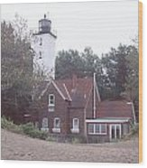 Forty Mile Point Light Wood Print