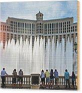 Fountains Of Bellagio, Bellagio Resort Wood Print
