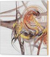 Fractal 066 Wood Print