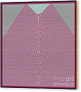 Fractal 28 Pink Gingham Shirt Wood Print