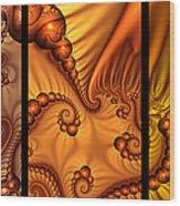 Fractal Triptychon Wood Print