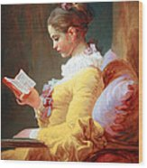 Fragonard's Young Girl Reading Wood Print