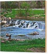 Framed Falls Wood Print