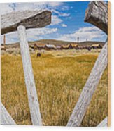 Framed View Of Bodie Ghost Town Wood Print