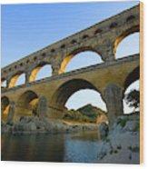 France, Avignon The Pont Du Gard Roman Wood Print