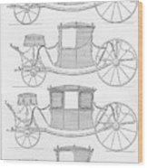 France Carriages, C1740 Wood Print