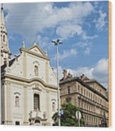 Franciscan Church Of Pest In Budapest Wood Print